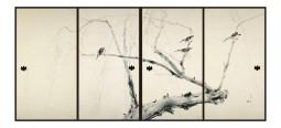 堂本印象 柳鷺の間 襖四面 1935年 信貴山成福院
