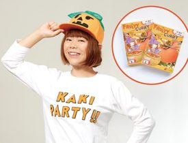 日本の秋=柿でハッピーハロウィン!