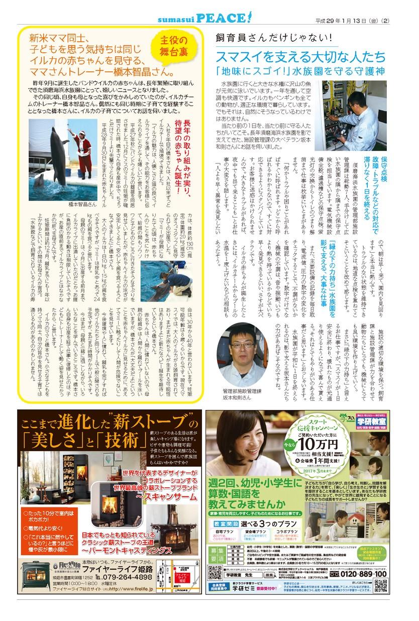 須磨海浜水族園情報紙 Peace vol.11 2017年01月13日号(スマスイ ピース)