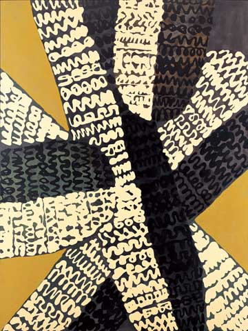 正延正俊《作品》1965 年 油彩、エナメル・綿布、板