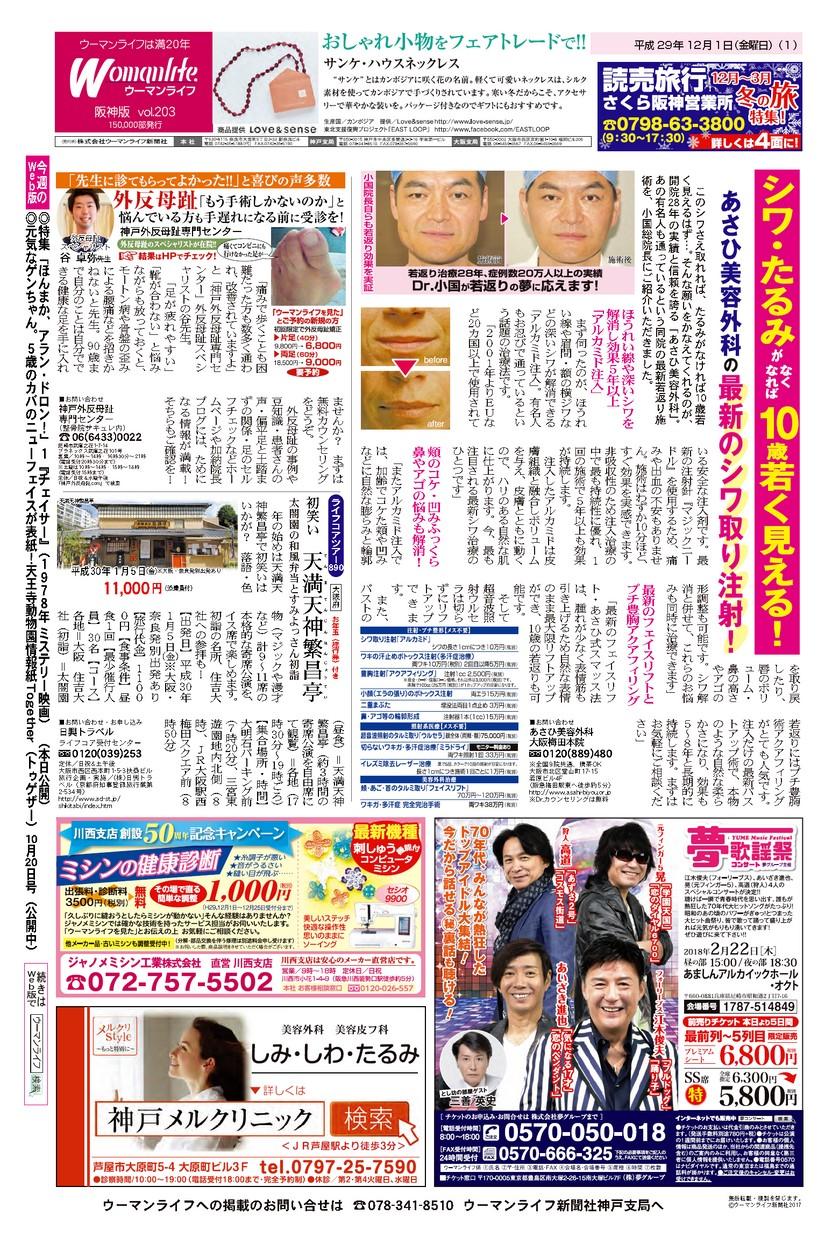 ウーマンライフ阪神版 2017年12月01日号