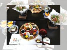 見頃の紅葉の中、當麻寺・中之坊の食事会に47名の読者が参加