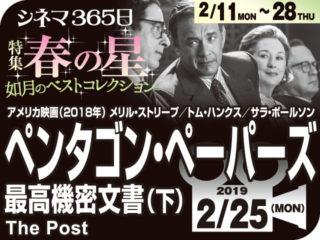 ペンタゴン・ペーパーズ 最高機密文書(下)(2018年 事実に基づく映画)