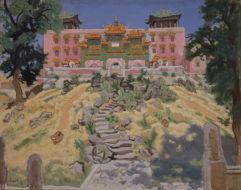 安井曾太郎「承徳の喇嘛廟」