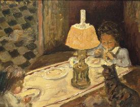 ピエール・ボナール《子どもたちの昼食》1897年頃 油彩/板 ナンシー美術館蔵 Photo  RMNーGrand Palais / Agence Bulloz / distributed by AMF