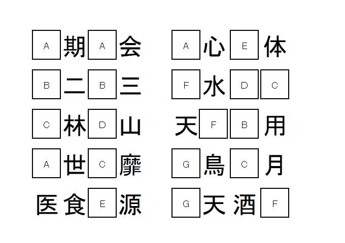 """ゴールデン""""クイズ""""ウイーク  ⑦穴埋め四字熟語"""