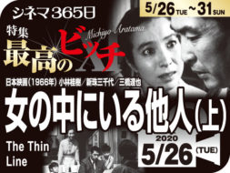 特集「最高のビッチ11」① 新珠三千代1女の中にいる他人(上)(1966年 サスペンス映画)